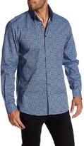 Lindbergh Printed Double Collar Regular Fit Long Sleeve Shirt
