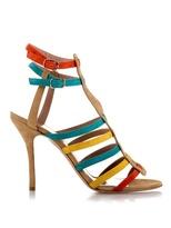 SOPHIE THEALLET Anita multi-strap suede sandals