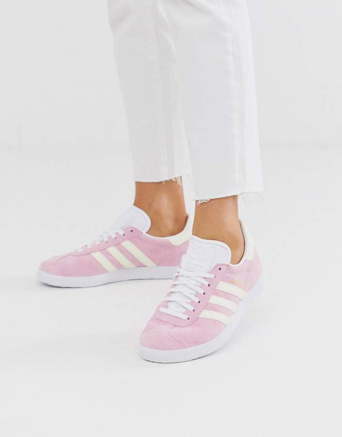 Pink Adidas Gazelle ShopStyle UK