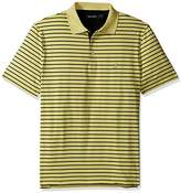 Nautica Men's Classic Fit Short Sleeve Stripe Wicking Tech Polo Shirt