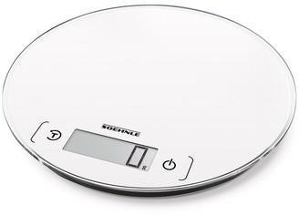 Soehnle Page Comfort Round 200 Glass Digital Kitchen Scale 24.5 x 23 White