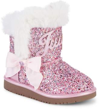 Juicy Couture Girl's & Little Girl's Faux Fur-Lined Glitter Boots