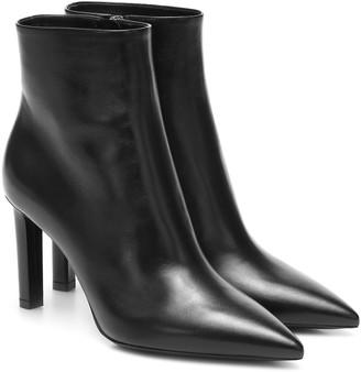 Saint Laurent Kate 85 leather ankle boots