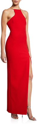 LIKELY Rocco Column Halter Gown