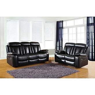 jack Furniture The Ellis Collection 2-Piece Reclining Living Room Leather Sofa Set