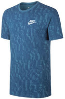 Nike Printed Crew Neck Cotton Tee