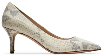 Cole Haan Vesta Snakeskin-Embossed Leather Pumps