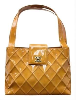 Chanel Orange Patent leather Handbags