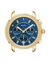Michele Sidney 18K Watch Head with Diamonds, Gold/Navy