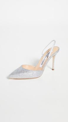 Sergio Rossi 90mm Godiva Bridal Shiny Glitter Mules