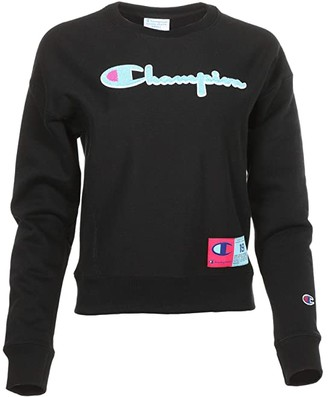 Champion Reverse Weave Crew Neck (Black) Women's Clothing