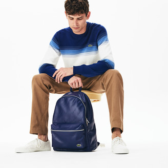 Lacoste Men's LIVE Signature Print Zippered Backpack