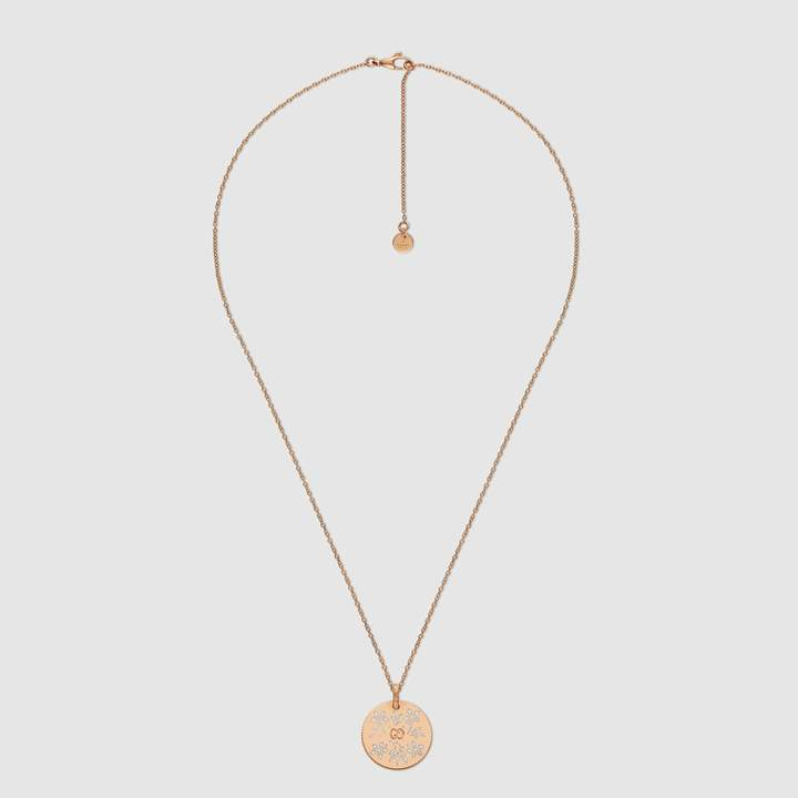 Gucci Icon necklace in rose gold