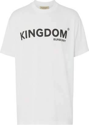 Burberry Kingdom Print Cotton T-shirt