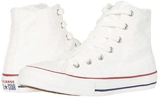 Converse Chuck Taylor All Star (Little Kid/Big Kid) (White/Garnet/Midnight Navy 1) Girl's Shoes