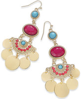 Thalia Sodi Gold-Tone Multi-Stone Chandelier Earrings, Created for Macy's