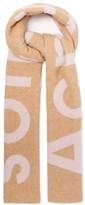 Acne Studios Toronty Logo-jacquard Wool-blend Scarf - Womens - Beige