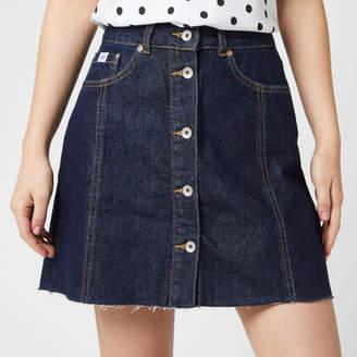 Superdry Women's Denim A Line Skirt - 70's Blue - W28 - Blue