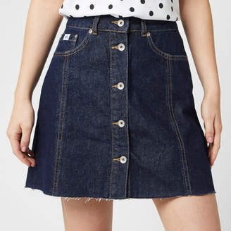 Superdry Women's Denim A Line Skirt