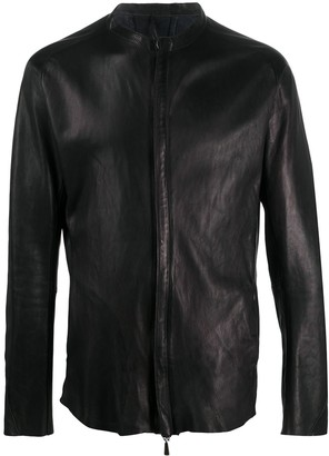 Masnada Slim-Fit Leather Jacket