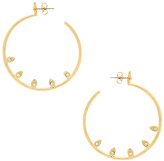 Luv Aj Posie Pave Statement Hoops in Metallic Gold.