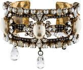 Erickson Beamon Crystal & Pearl Cuff