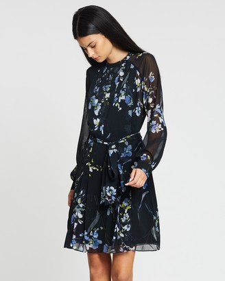 Reiss Nettie Floral Violet Short Dress