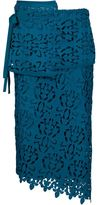 No.21 floral macramé layer skirt - women - Silk/Polyester/Acetate - 42