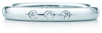 Tiffany & Co. Elsa Peretti stacking band ring in platinum with diamonds