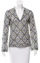 Tory Burch Long Sleeve Sequined Blouse