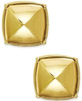 ABS by Allen Schwartz Gold-Tone Rounded Pyramid Stud Earrings