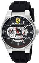 Ferrari Men's 'Speciale' Quartz Stainless Steel and Rubber Casual Watch, Color:Black (Model: 830429)