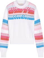 Peter Pilotto Crochet-paneled Cotton Sweater - White