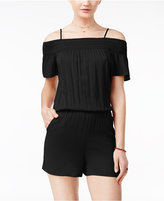 Amy Byer Juniors' Cold-Shoulder Romper