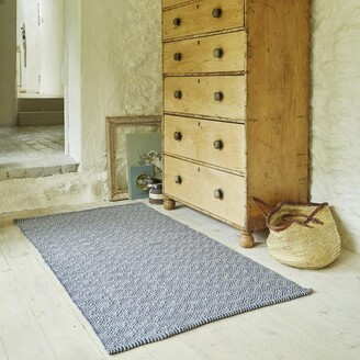 Camilla And Marc Weaver Green - Navy Provence Rug 110 X 60 Cm - 110cm x 60cm