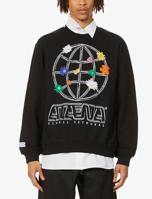 McQ Athena graphic-print cotton-jersey sweatshirt