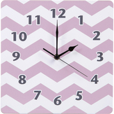 Trend Lab Lilac Orchid Bloom Chevron Wall Clock
