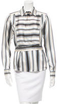 Veronica Beard Striped Long Sleeve Top