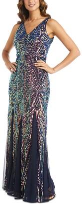 Nightway Sequin Gown