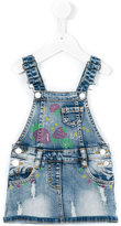 Miss Blumarine denim skirt overalls - kids - Cotton/Polyester/Spandex/Elastane - 12 mth