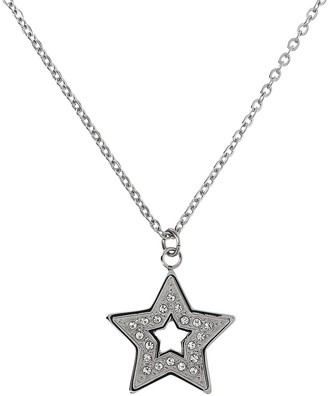 Steel by Design Crystal Star Pendant w/ Chain