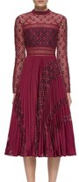 Self-Portrait Self Portrait Symm Midi Dress Burgundy