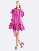 Cynthia Rowley Polished Cotton Ruffle Dress