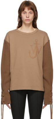 MONCLER GENIUS 1 Moncler JW Anderson Tan Logo Sweater