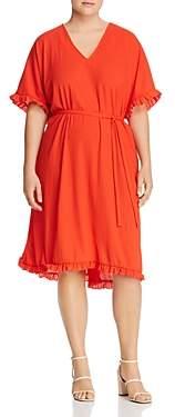 Junarose Plus Ebony Ruffle-Trim Dress