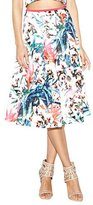 Nicole Miller Orchid Jungle Neoprene Printed Flare Skirt