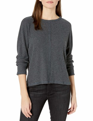 Michael Stars Women's Madison Brushed Sweater Rib Long Sleeve Boatneck Top