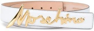 Moschino Signature logo-plaque belt