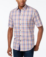 Tasso Elba Men's Fancy Check Short-Sleeve Shirt, Only at Macy's