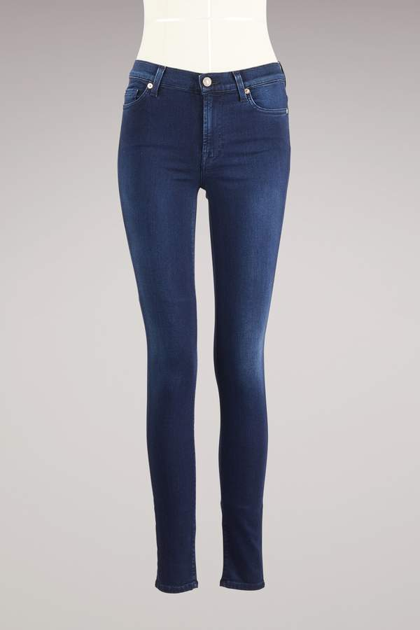 7 For All Mankind Skinny High Waist Jeans